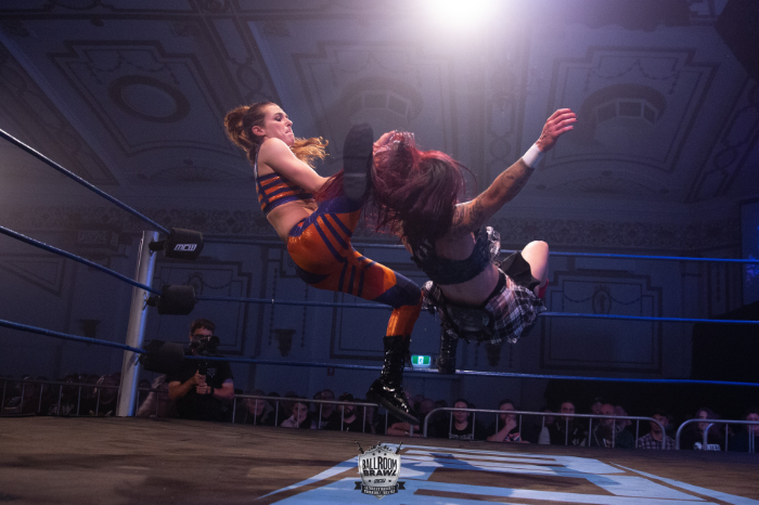 Jessica Troy tries to add Kellyanne's arm to her collection at MCW Ballroom Brawl